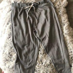 Grey Under Armour sweat pants